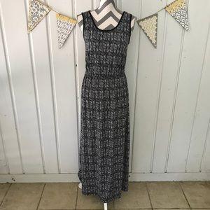 Faded Glory Cinched Waist Maxi Dress